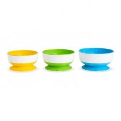 Set De 3 Platos Tipo Bowl Munchkin Bebés Niños Base Succión (Entrega Inmediata)