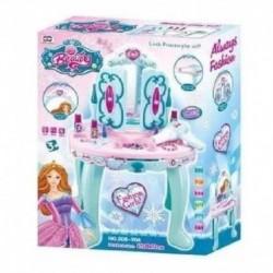 Tocador Peinador Azul Princesas Niñas Luces Y Sonido (Entrega Inmediata)