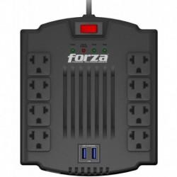 Regulador De Voltaje Forza Fvr-1211usb 8 Tomas 2 Puertos Usb (Entrega Inmediata)