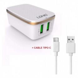 Cargador Celular Ldnio A2204 Con Cable Tipo C (Entrega Inmediata)