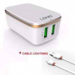 Cargador Celular Ldnio A2204 Con Cable Lightning iPhone iPad (Entrega Inmediata)