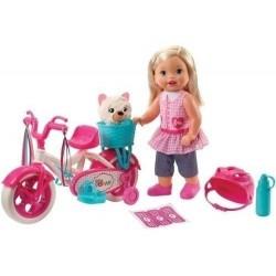 Juguete Muñeca Little Mommy Paseo De Bicicleta Fcn11 Niñas (Entrega Inmediata)