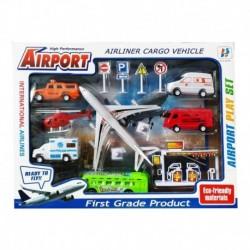 Set 14pcs Aeropuerto Avión Helicóptero Carros Ref. Hs69101-6 (Entrega Inmediata)
