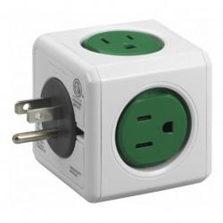 Multitoma Powercube By Allocacoc Original · 5 Tomas - Verde (Entrega Inmediata)
