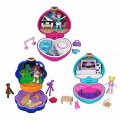 Set Polly Pocket Mini Cofres Mundos De Bolsillo X3 Mattel (Entrega Inmediata)