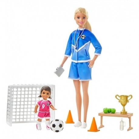 Barbie Quiero Ser Entrenadora De Fútbol Mattel Glm47 (Entrega Inmediata)