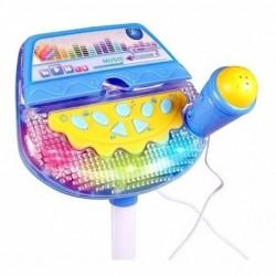 Micrófono Karaoke Con Soporte Amplificador Mp3 Luz Hk-6011 (Entrega Inmediata)