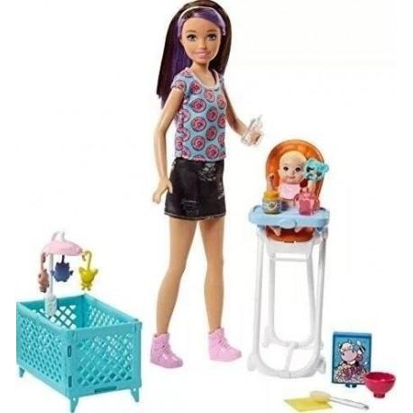 Barbie Muñeca Skipper Babysitters Doll And Feeding Fhy98 (Entrega Inmediata)
