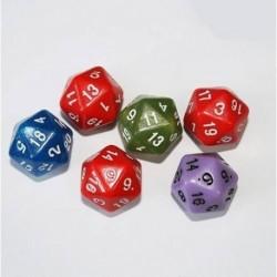Juego Dados Poliédrico 24 Caras X 6 Und Dado Rol Casino Mate