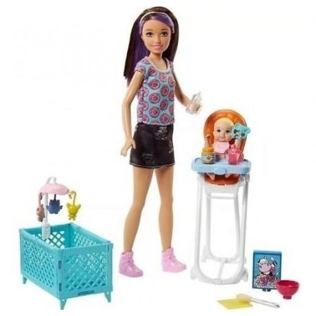 Muñeca Barbie Skipper Babysitters Corral Bebe Fhy98 (Entrega Inmediata)