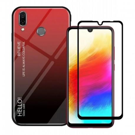 Estuche Forro De Moda Degradado + Vidrio 5d Xiaomi Redmi 7
