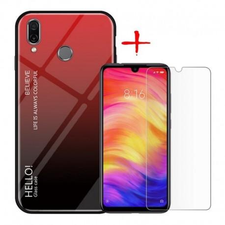 Estuche Forro Degradado + Vidrio 2d Xiaomi Redmi 7