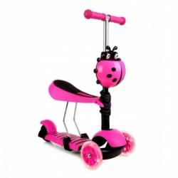 Patineta Scooter 3 En 1 Infantil Asiento Gt-4110b Rosado (Entrega Inmediata)