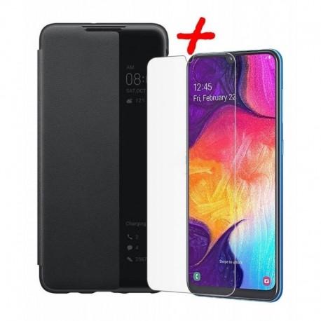 Smart Flip Cover Huawei P30 + Vidrio 2d Estuche Funda Forro