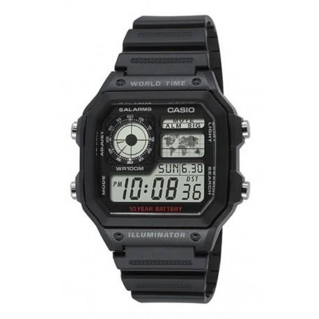 Reloj Casio Ae1200whd Original Acero Resistent Agua Garantía (Entrega Inmediata)