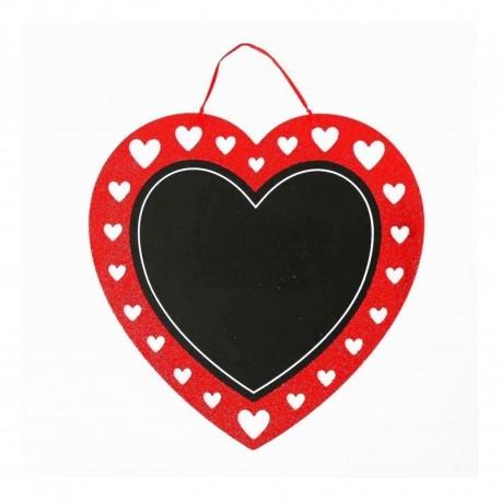 Letrero Pizarra Corazón Amor Y Amistad 34cm (Entrega Inmediata)