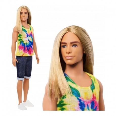 Barbie Ken Fashionista 138 Pelo Largo Camiseta Hippie Ghw66