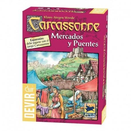 Expansión Carcassonne: Mercados Y Puentes Devir Lfcabf064 (Entrega Inmediata)