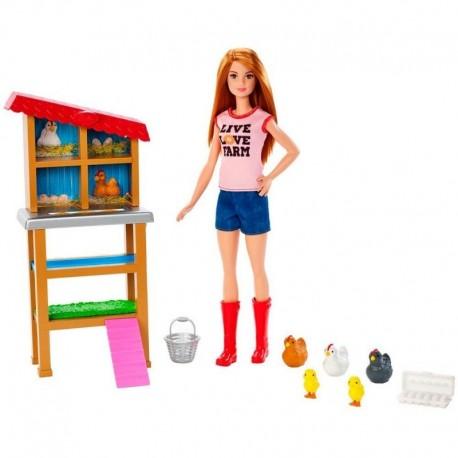 Barbie Chicken Farmer Doll Cuidadora De Animales Ref. Fxp15 (Entrega Inmediata)