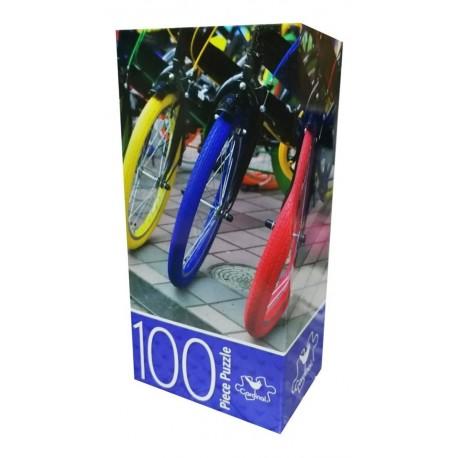 Rompecabezas Bicicletas 100 Piezas 28x38cm Juego Mesa (Entrega Inmediata)