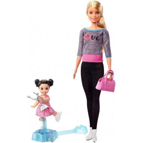 Barbie Quiero Ser Patinadora Sobre Hielo Mattel Fxp38 (Entrega Inmediata)
