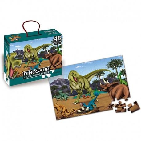 Rompecabeza De Piso Gigante Dinosaurios Jurassic 48 Piezas (Entrega Inmediata)