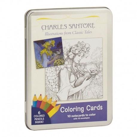 Charles Santore: Ilustraciones Cuentos Clásicos De Colorear (Entrega Inmediata)