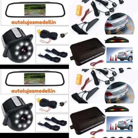 Sensores Por 4 Y Cámara Hd En Combo De Parqueo Para Carro. (Entrega Inmediata)