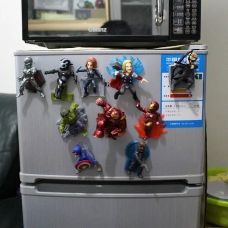 Vengadores Figuras De 10 Cms De Mesa Magnéticas En Pvc X 10 (Entrega Inmediata)