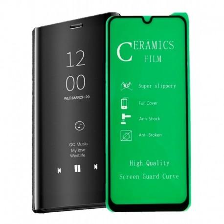 Estuche Forro Flip Cover De Lujo + Vidrio 5d Samsung A70 (Entrega Inmediata)