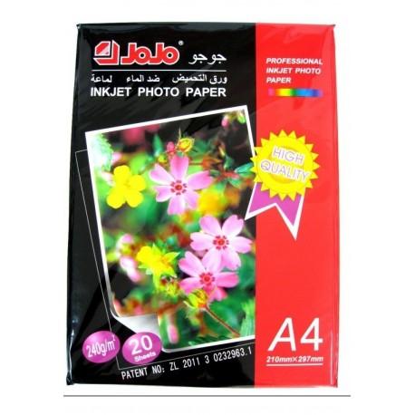 Papel Fotográfico A4 Jojo Inkjet 240gr X 20 Unidades G0-0005