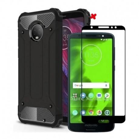 Motorola Moto G6 Forro Funda Antigolpe + Vidrio 5d Full
