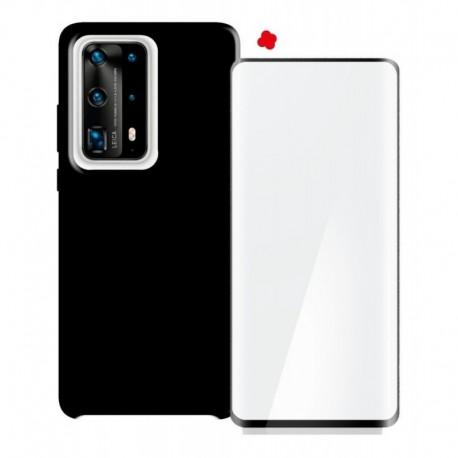 Funda Estuche Forro Silicone Case + Vidrio 3d Huawei P40 Pro