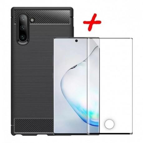 Carcasa Funda Forro Estuche + Vidrio 3d Samsung Note 10 (Entrega Inmediata)