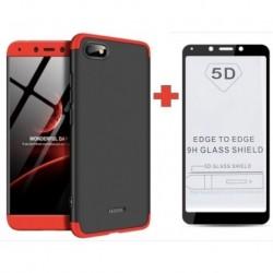 Xiaomi Redmi 6a Forro Funda Estuche 360 De Lujo + Vidrio 5d (Entrega Inmediata)