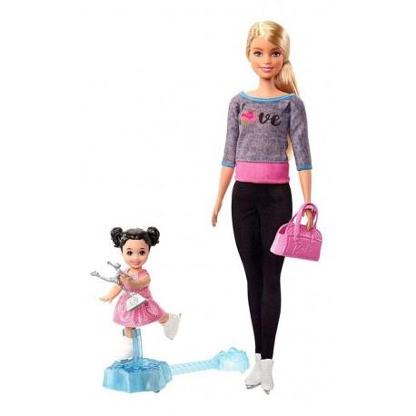 Barbie Entrenadora De Patinaje Sobre Hielo Mattel Fxp38
