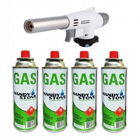 Soplete + 4 Tanques Gas Butano Tuberia Reposteria Joyeria (Entrega Inmediata)