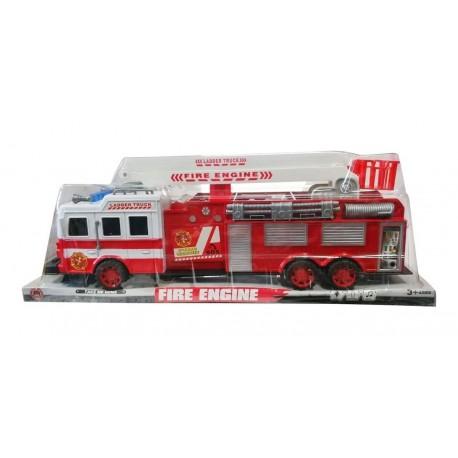 Camión De Bomberos 41cm Fire Rescue Con Escalera Sh-9027 (Entrega Inmediata)