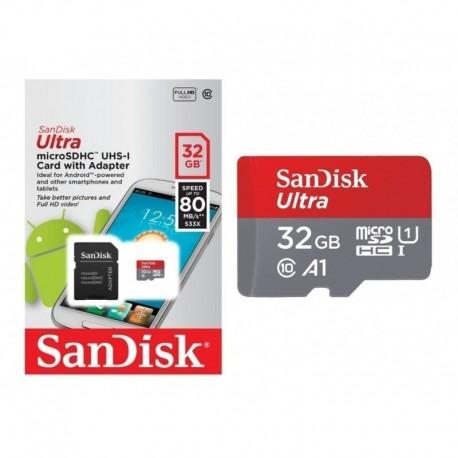 Memoria Sandisk Micro Sd 32gb 80 Mbs C10 Garantia 1 Año Orig (Entrega Inmediata)