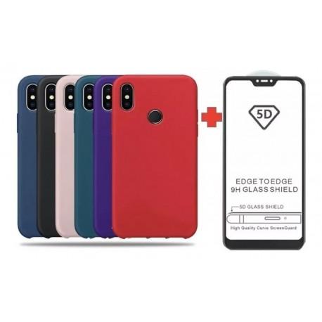 Funda Forro Estuche Silicone Case + Vidirio 5d Xiaomi (Entrega Inmediata)