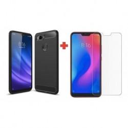 Forro Funda Estuche + Vidrio Templado 2d Xiaomi Mi 8 Lite (Entrega Inmediata)