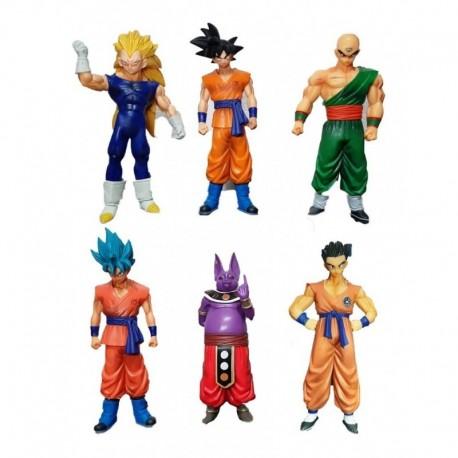 Figura Dragon Ball Set X6 Broly Goku (Entrega Inmediata)