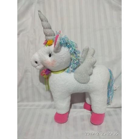 Unicornio Peluche Garantizado ( Largo 56 Cms Y Alto 43 Cms) (Entrega Inmediata)