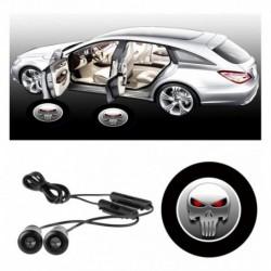 Luz Led Fantasma Punisher Puerta Universal Para Carro . (Entrega Inmediata)