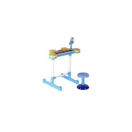 Multi Function Organeta Azul Musical Luces Hk-3012cp (Entrega Inmediata)