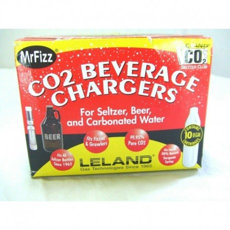 Leland 8-gram Co2 Cartridges, 10ct (4-(pack)) 40 Un (Entrega Inmediata)