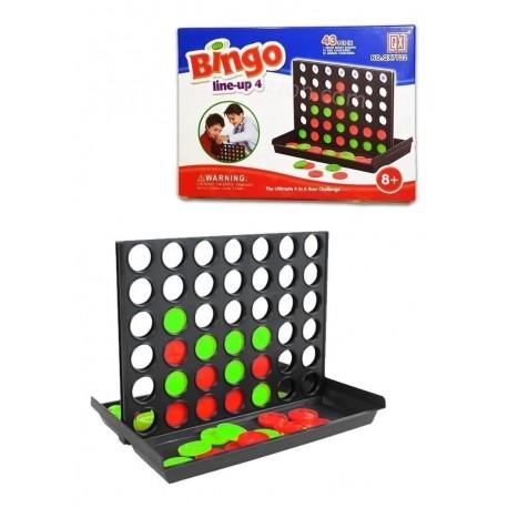 Juego Mesa Bingo Line-up 4 Familiar Entretenimiento Qx7711 (Entrega Inmediata)