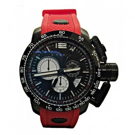 Reloj Hombre D' Mario Kr4131 Original Pulso Goma Rojo Cuarzo (Entrega Inmediata)