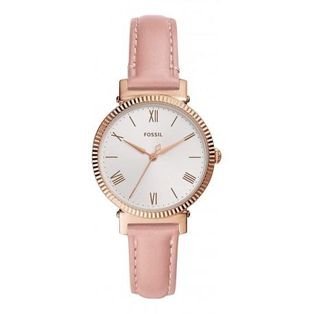 Reloj Fossil Mujer Es4794 Cuero Rosa