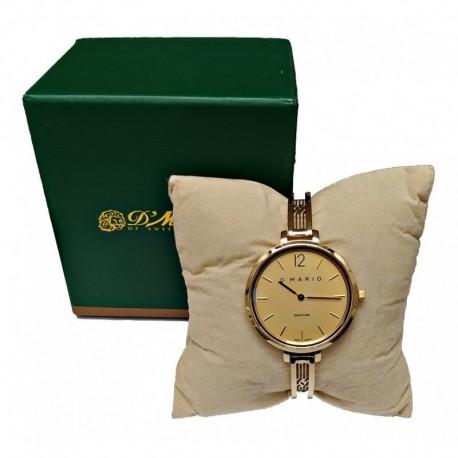 Reloj D' Mario Fg1662 Dama Colección Invicto Dorado (Entrega Inmediata)
